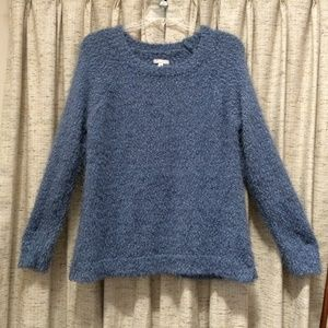 Lauren Conrad Blue Fuzzy Raglan Sweater
